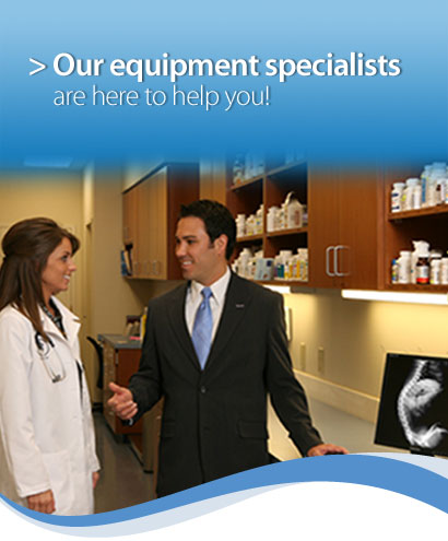 > Our equipment specialists are here to help you!