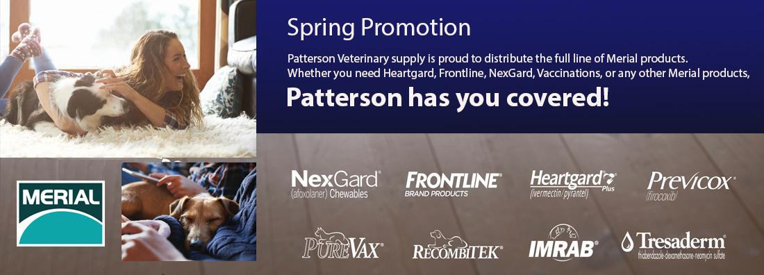 Merial Spring Promo 2016 Patterson Veterinary